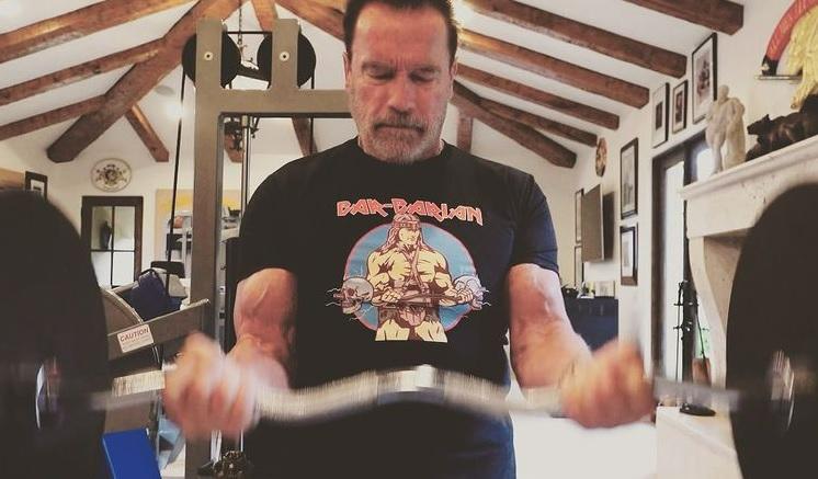 Schwarzenegger besuchte heimlich Budapest, trainierte mit einem jungen Mädchen post's picture