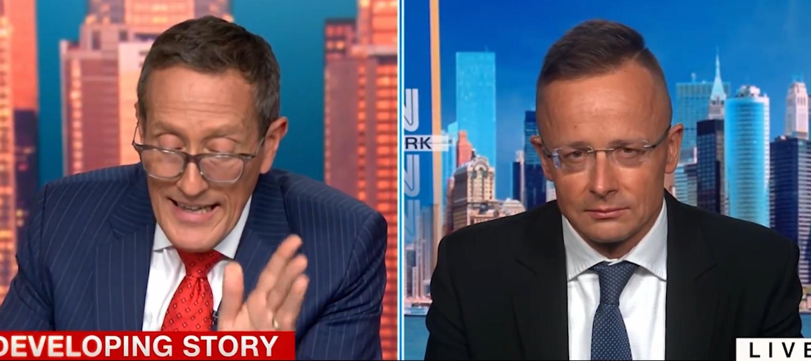 CNN-Reporter an Ungarns Außenminister:
