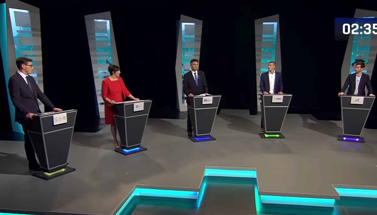 Zweite Fernsehdebatte der oppositionellen Ministerpräsident-Kandidaten