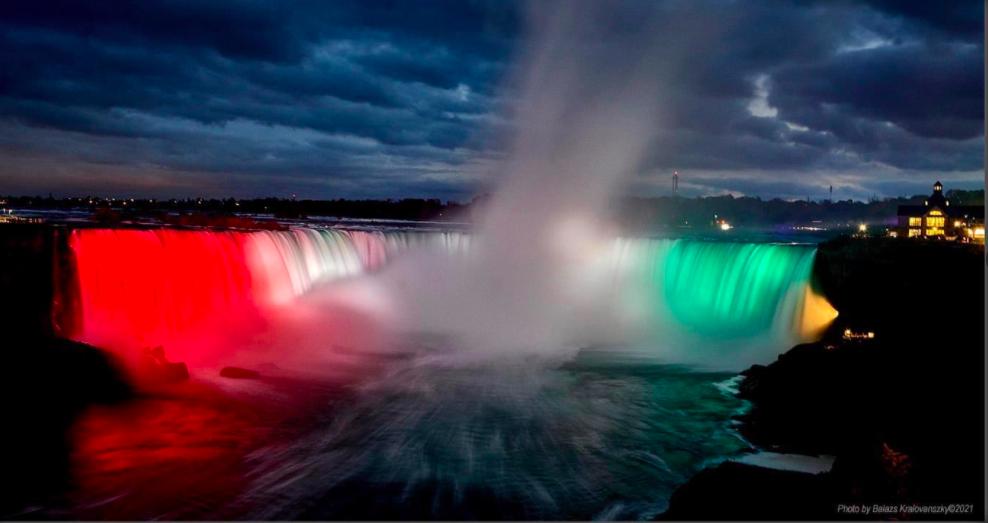 Niagarafälle in den ungarischen Nationalfarben post's picture